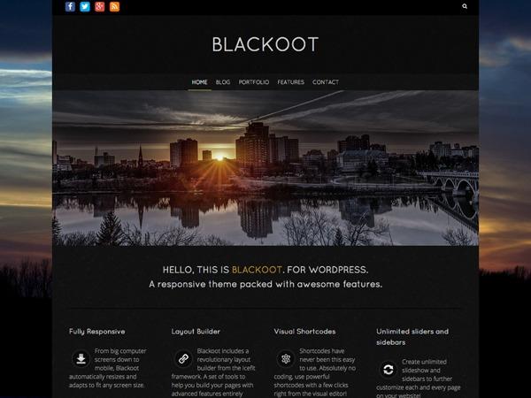 Blackoot Pro template WordPress