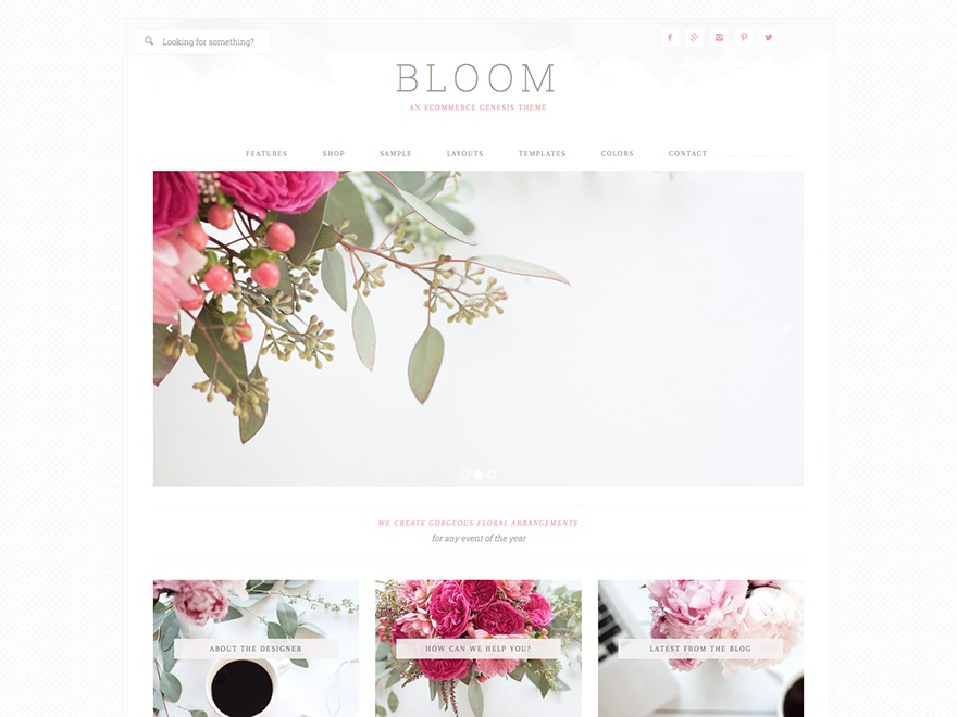 Bloom Theme WordPress shopping theme