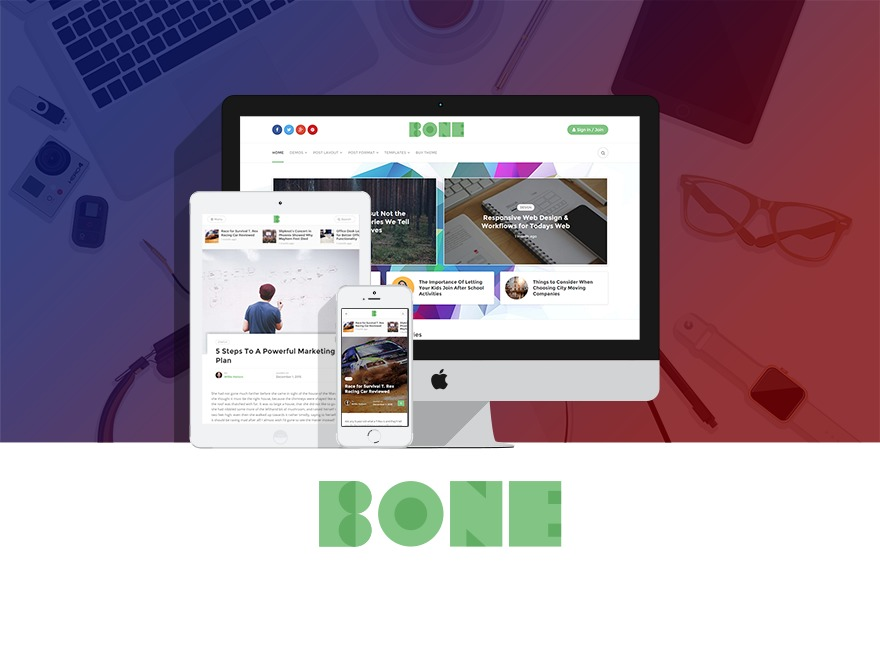 Bone WordPress blog template
