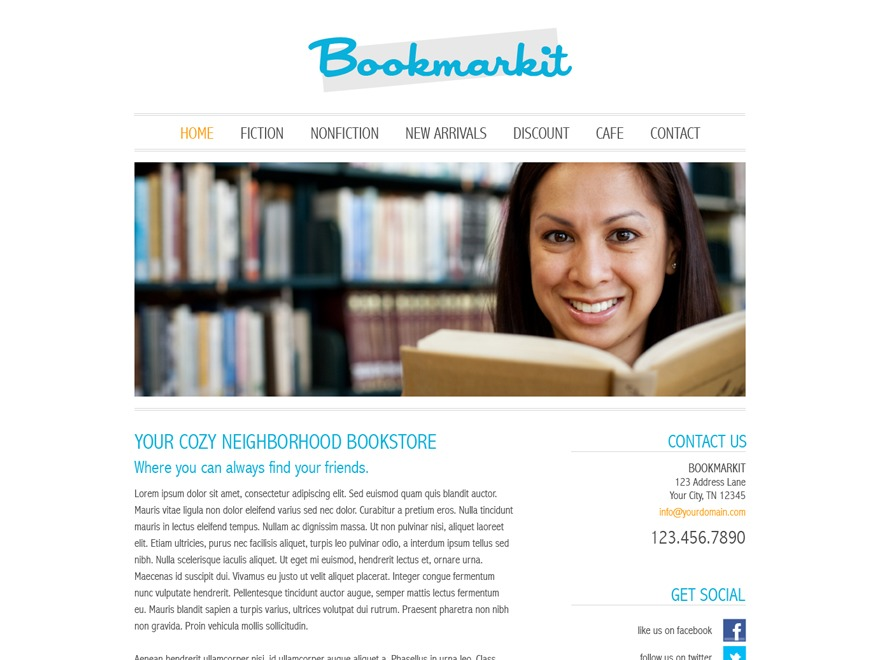 Bookmarkit WordPress template for business