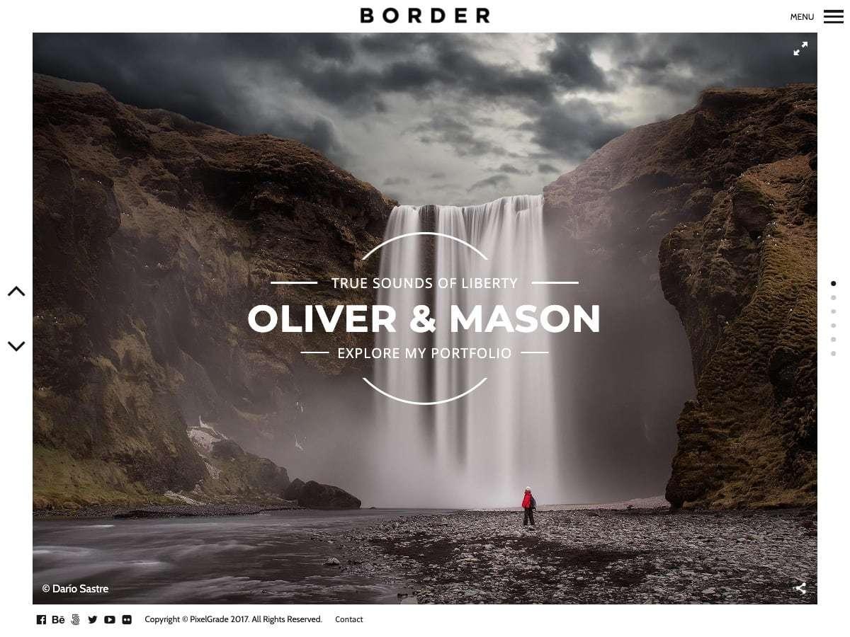 Border photography WordPress theme