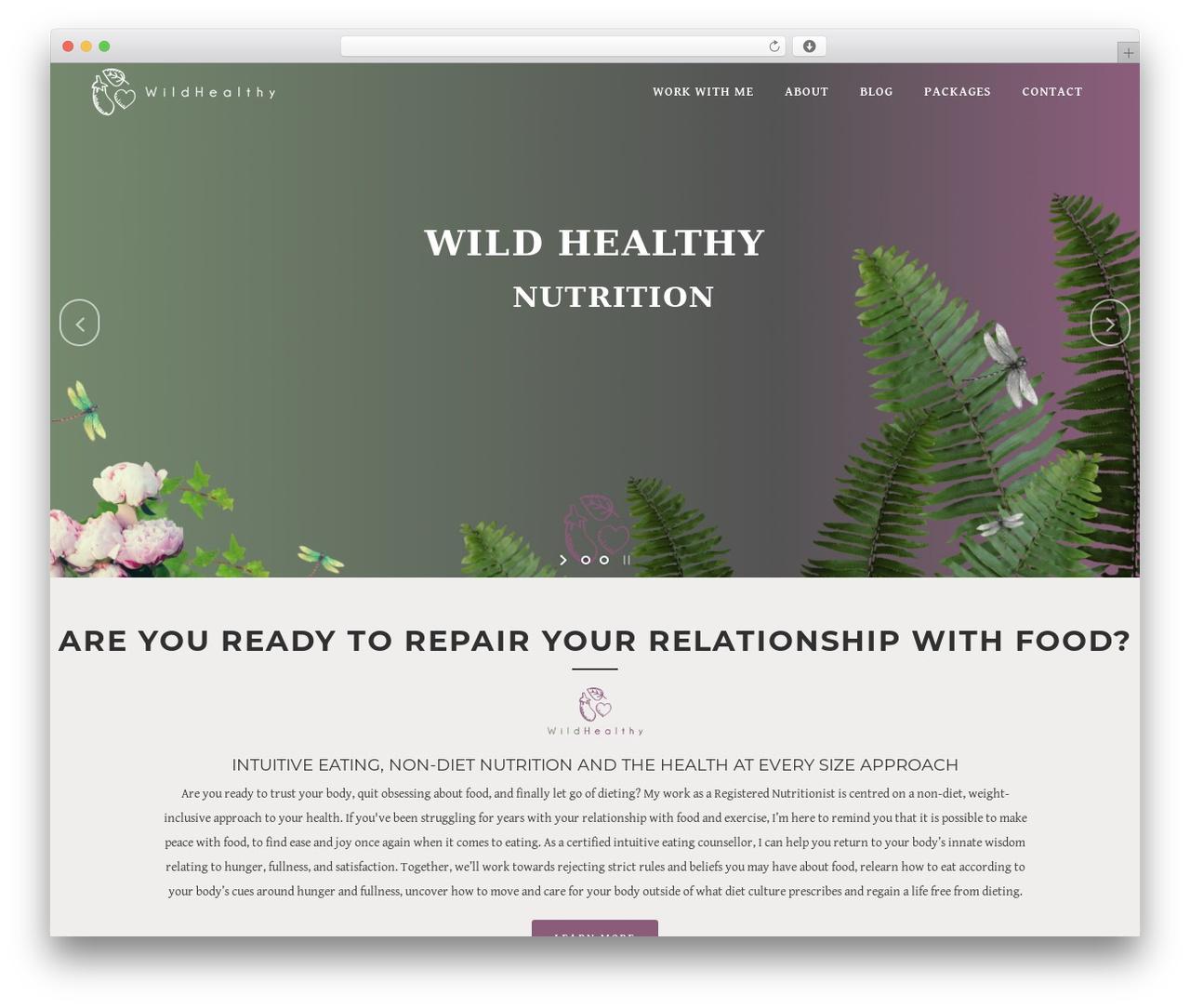 Bridge theme WordPress - wildhealthy.com