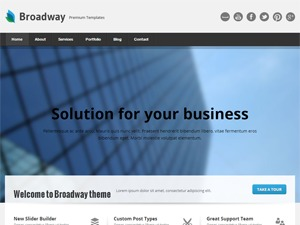 Broadway newspaper WordPress theme