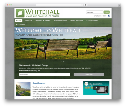 Builder WordPress theme - whitehallcamp.org