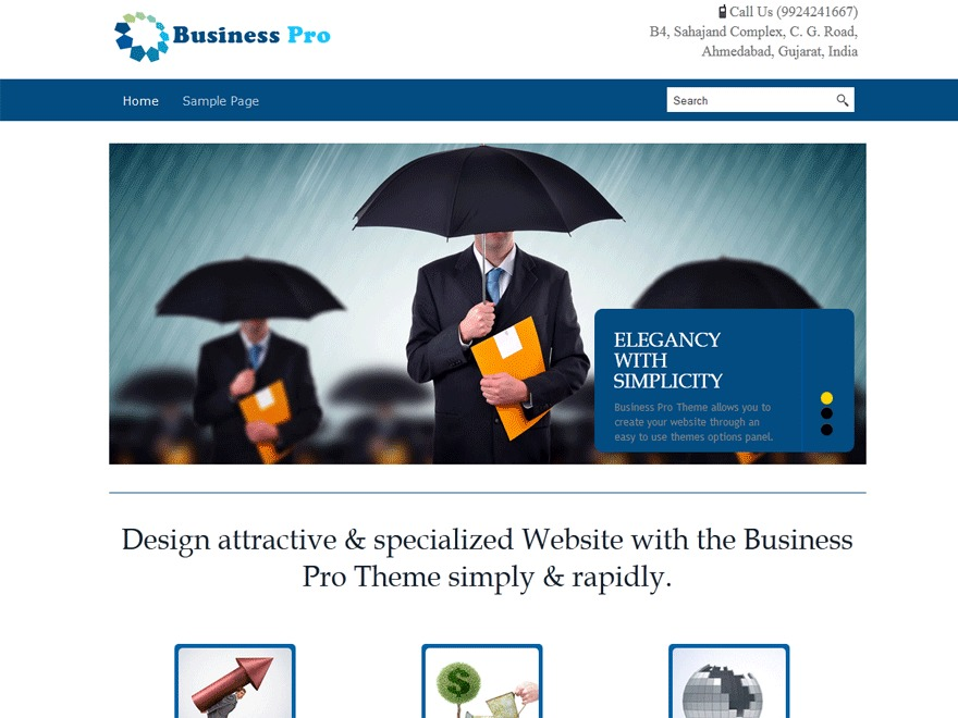 Business Pro WordPress template for business
