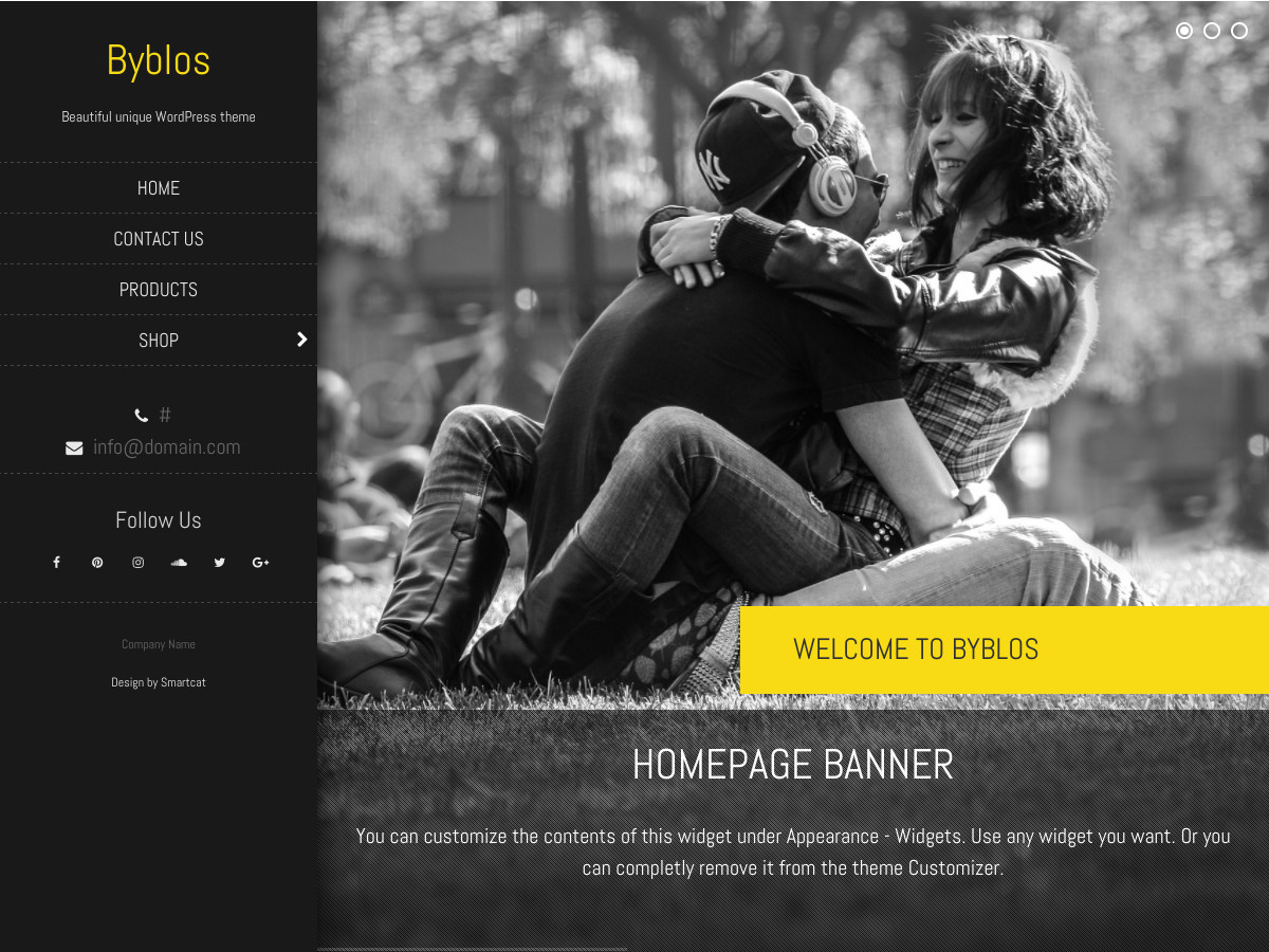 Byblos free website theme