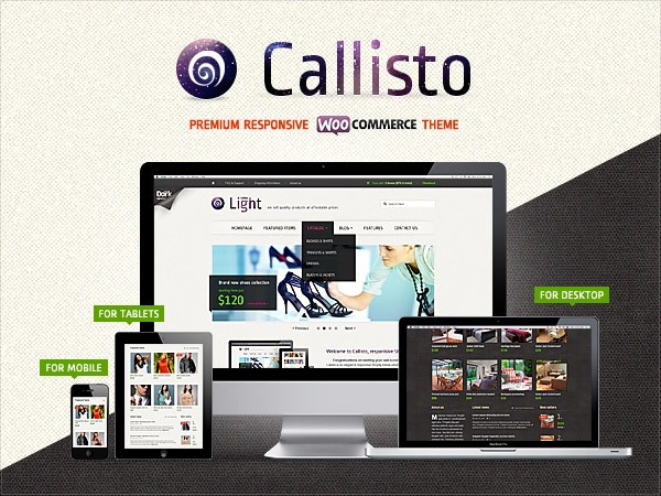 Callisto for Woocommerce - Premium Wordpress Theme WordPress ecommerce template