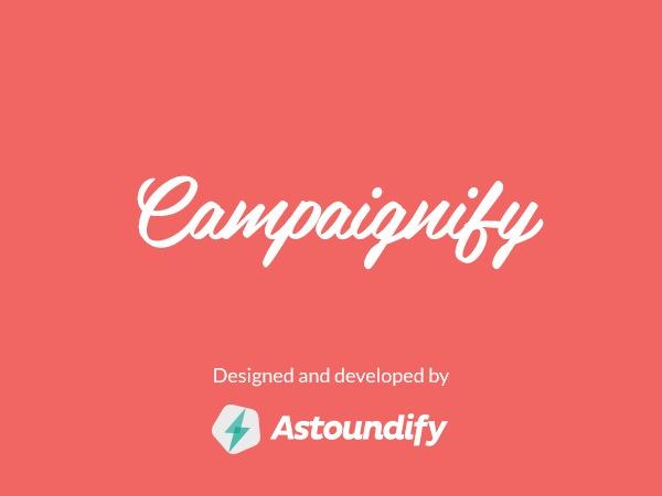Campaignify template WordPress