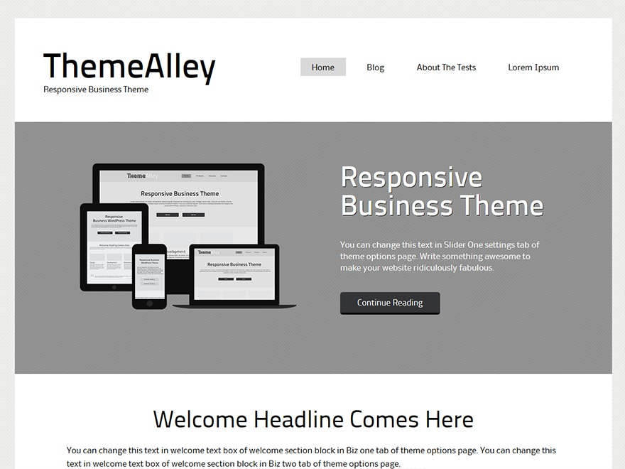 Canoe free WordPress theme