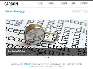 Carbon Light - Business responsive WordPress theme WordPress template for business