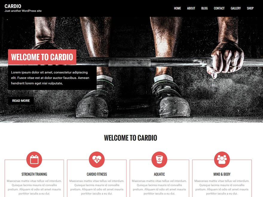 Cardio theme free download