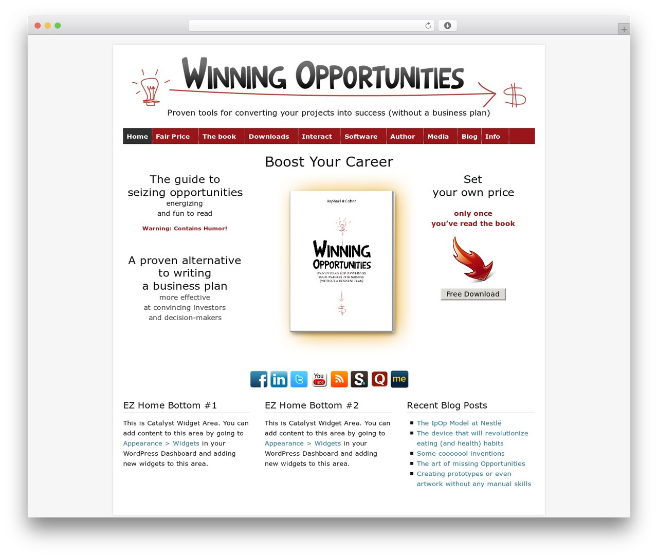 Catalyst company WordPress theme - winning-opportunities.org