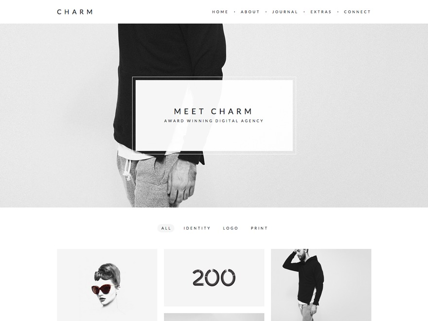 Charm best WordPress template