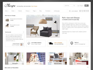 Cheope WordPress shopping theme