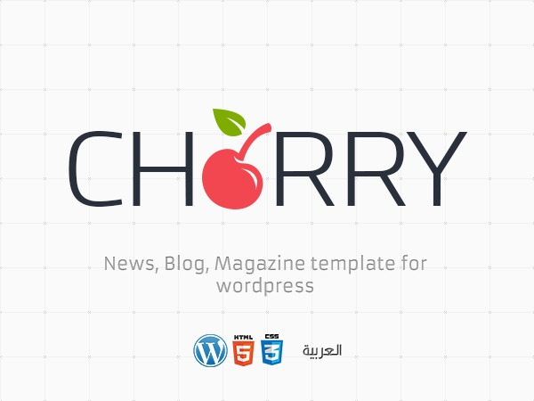 Cherry News newspaper WordPress theme
