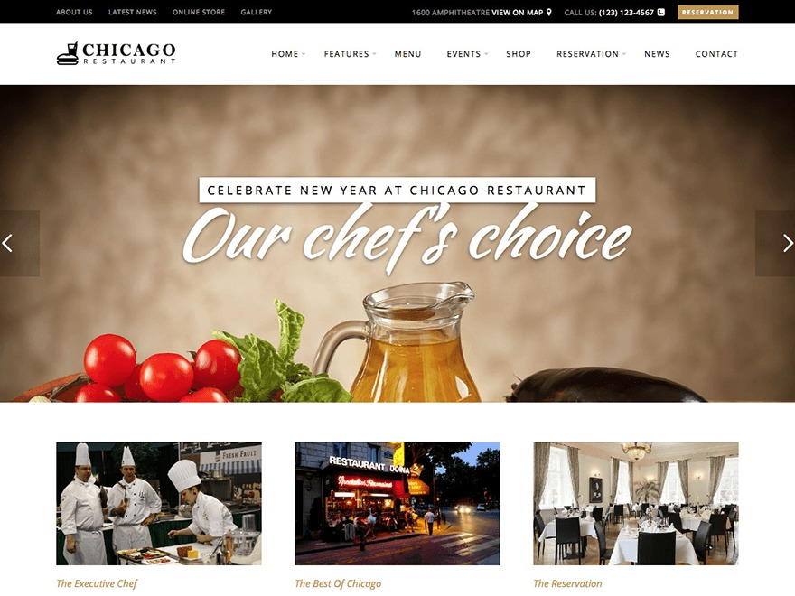Chicago Restaurant best restaurant WordPress theme