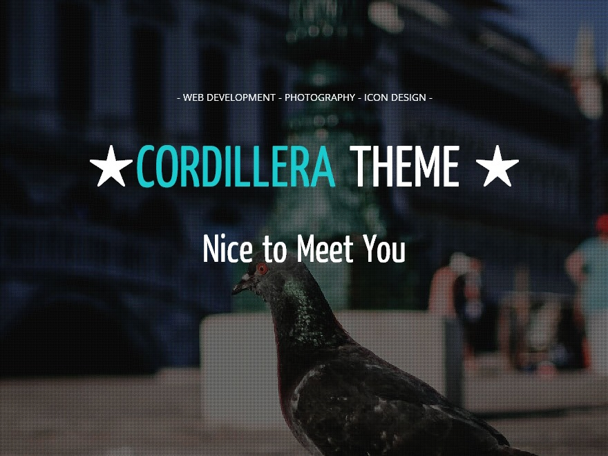 Cordillera WordPress movie theme