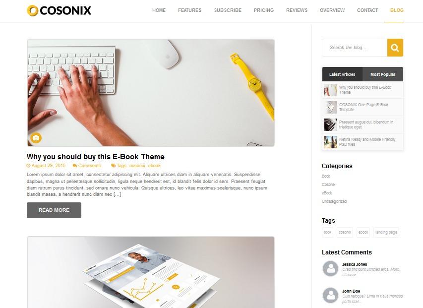 Cosonix best WordPress theme