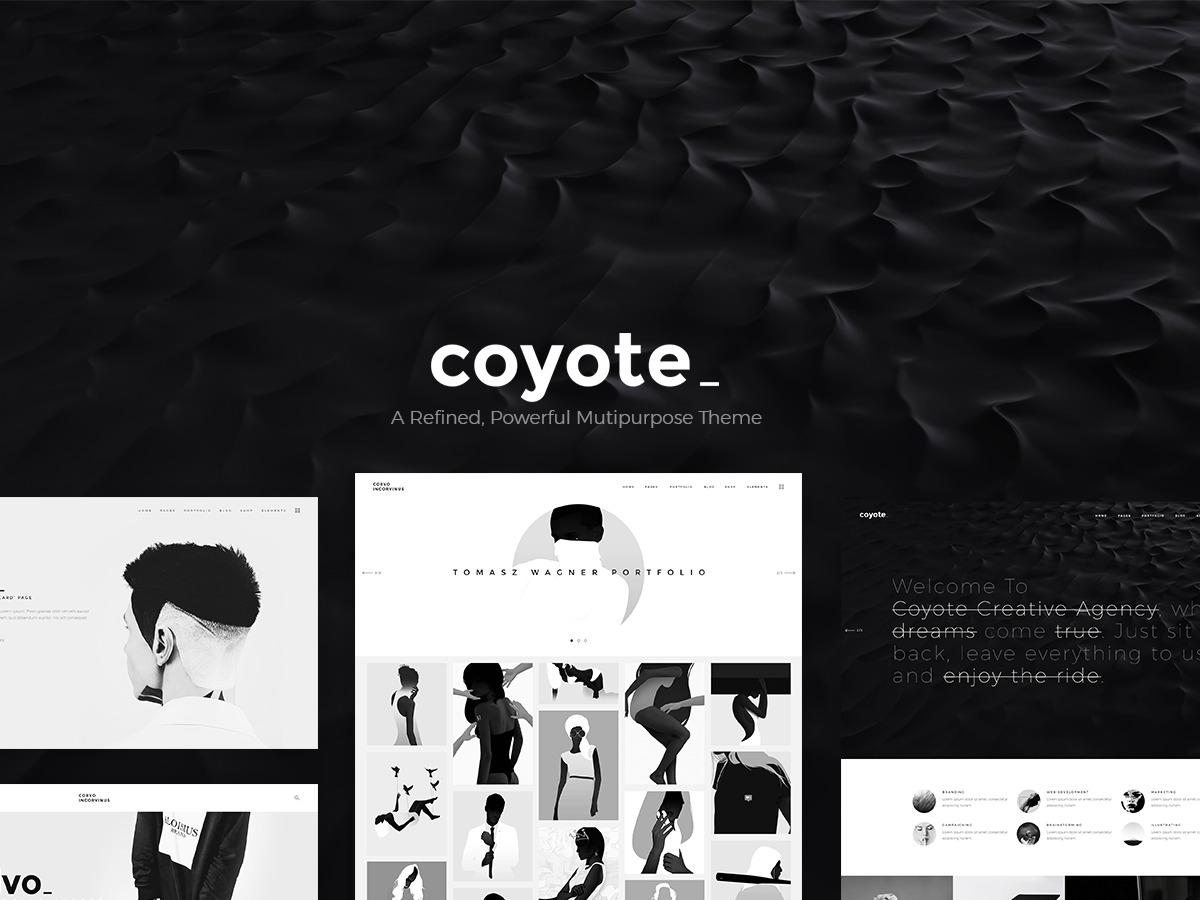Coyote WordPress theme design