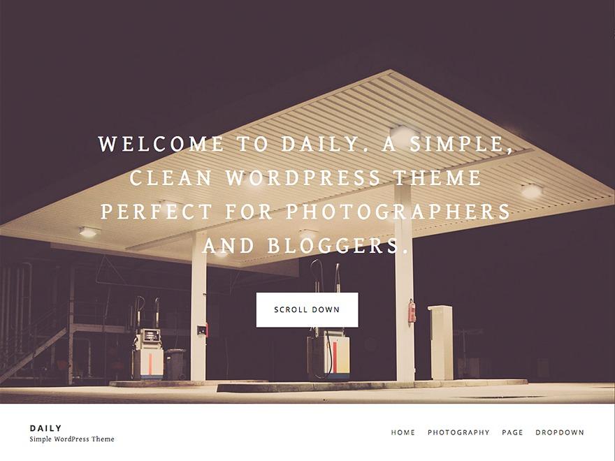 Daily WordPress blog theme