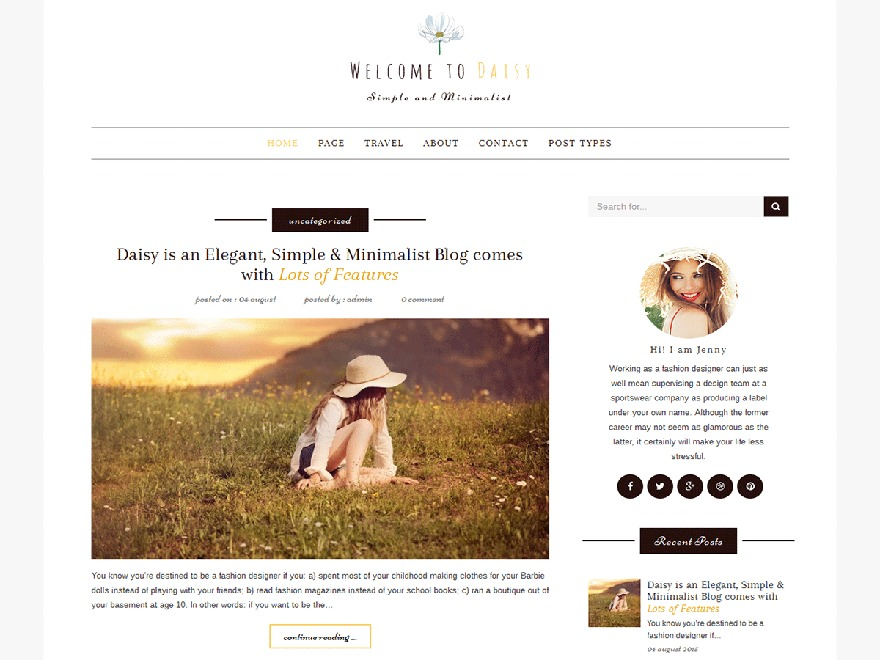 daisy template WordPress