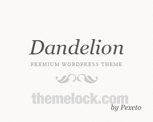 Dandelion (shared on themelock.com) theme WordPress