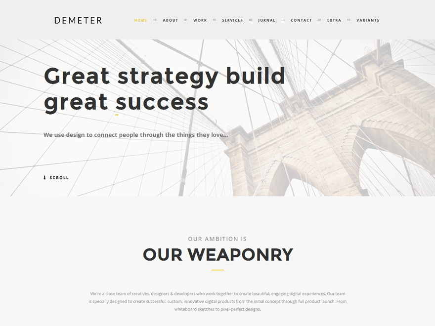 Demeter WordPress magazine theme
