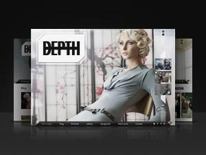 Depth WordPress portfolio template