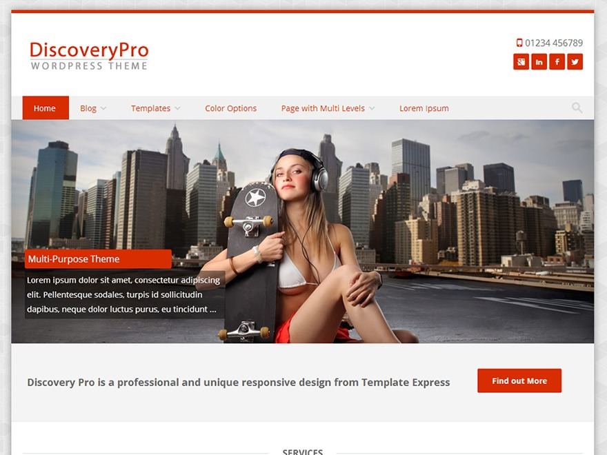 DiscoveryPro theme WordPress