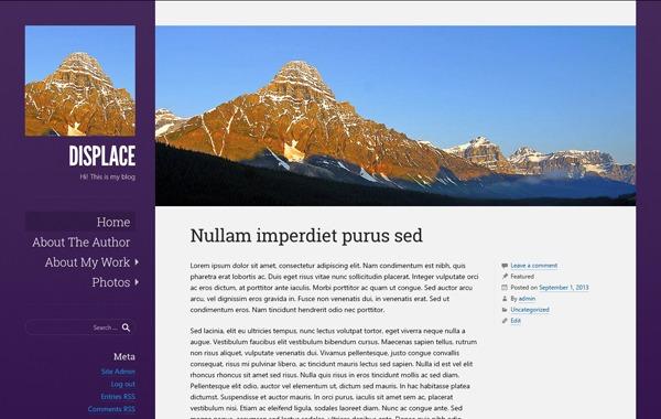Displace WordPress blog theme