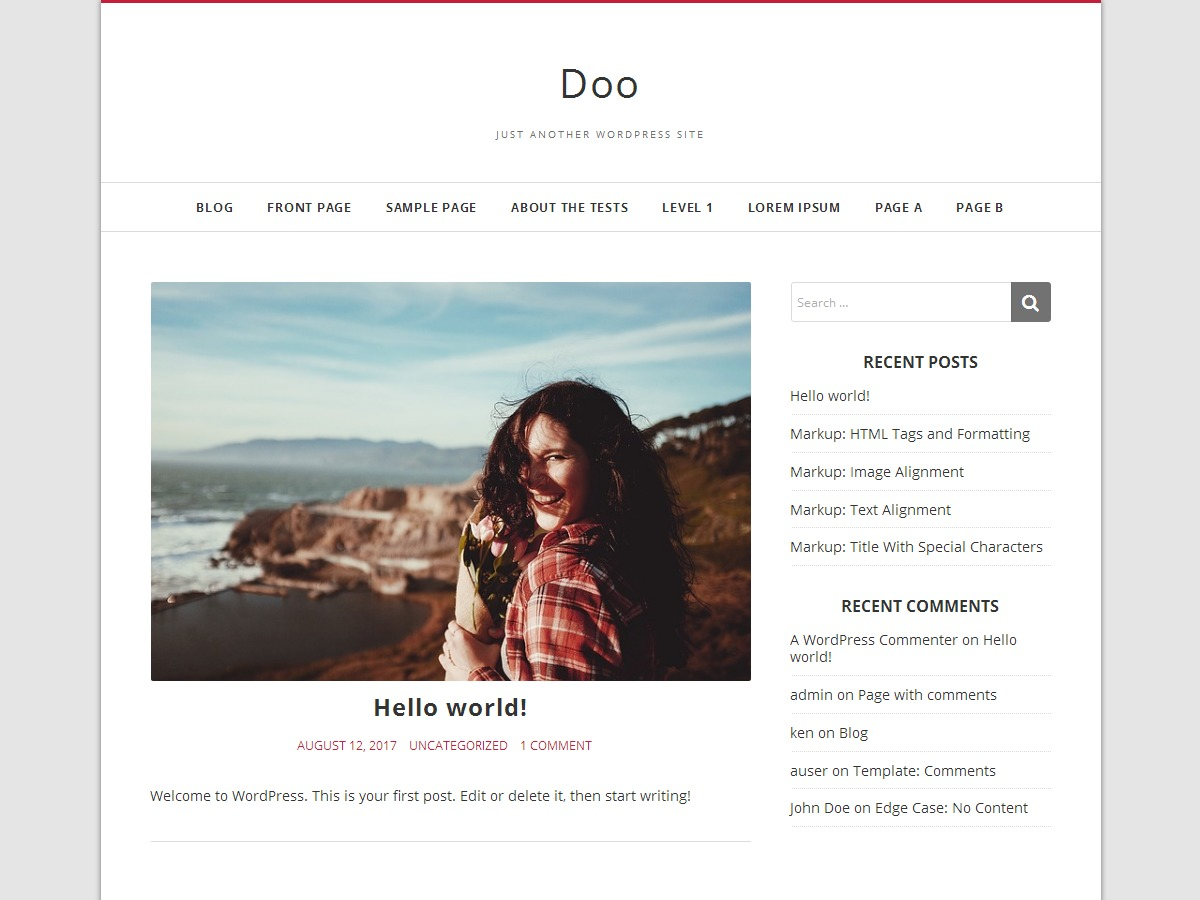 Doo free WordPress theme
