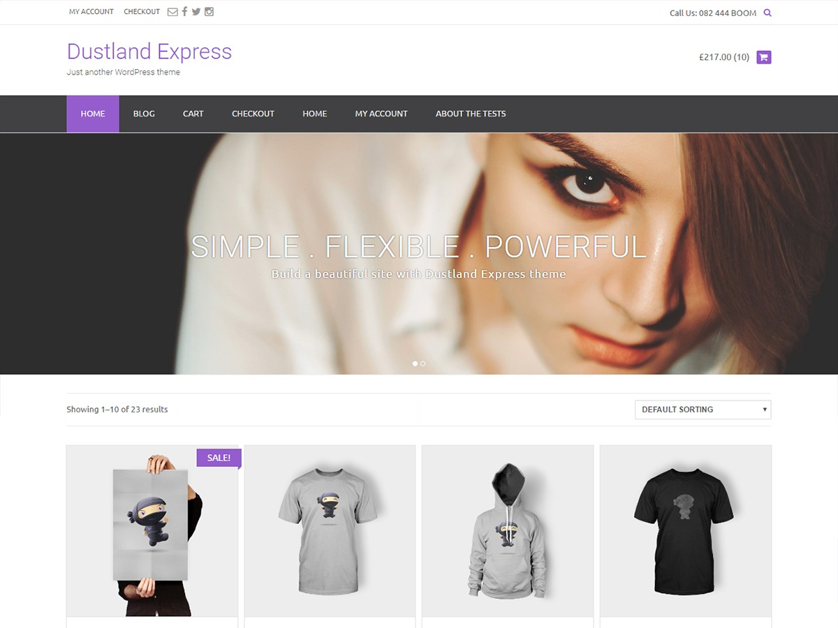 Dustland Express WordPress theme free download