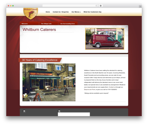 eBusiness WordPress template for business - whitburncaterers.co.uk