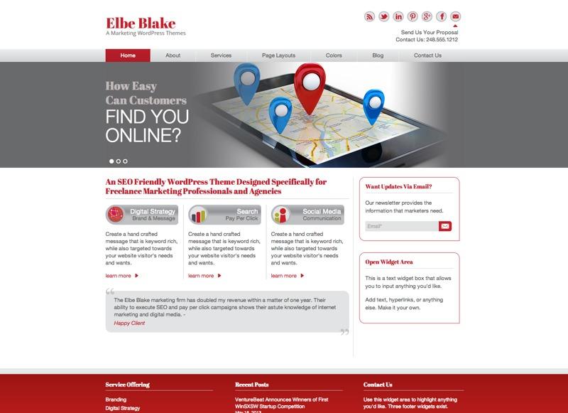 Elbe Blake WordPress theme