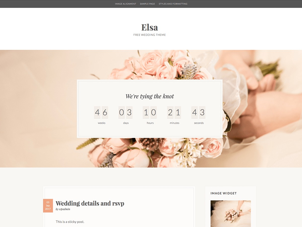 Elsa best wedding WordPress theme