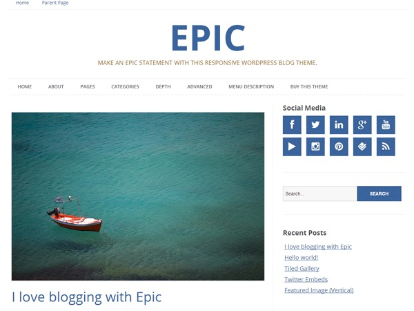 Epic WordPress video template