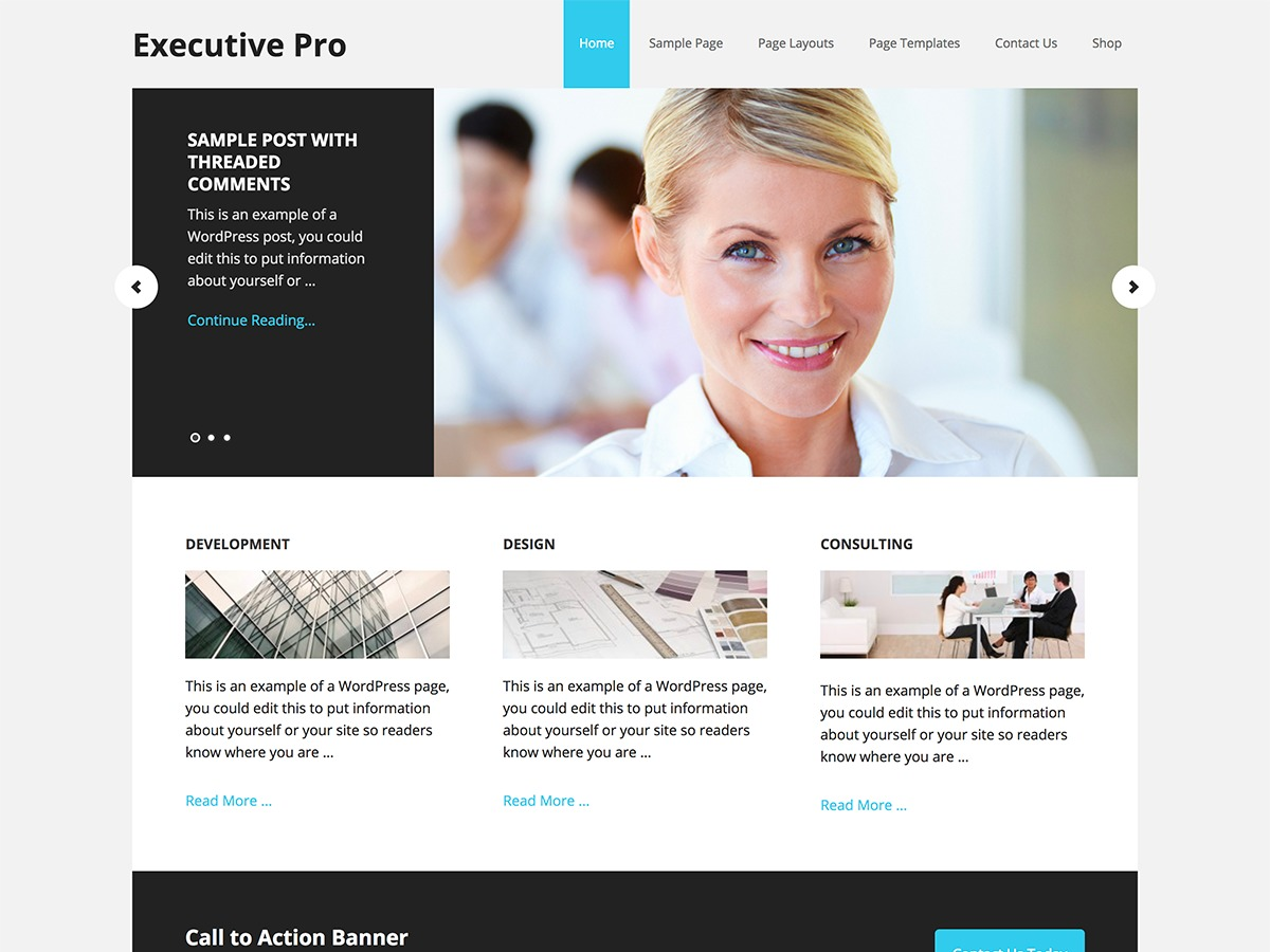 Executive Pro WordPress website template