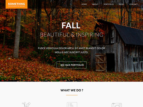 Fall WordPress blog template