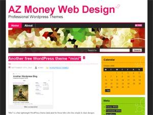 Fancy WordPress blog template