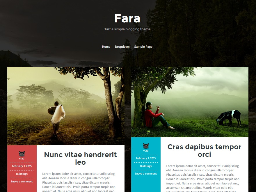 Fara free WordPress theme