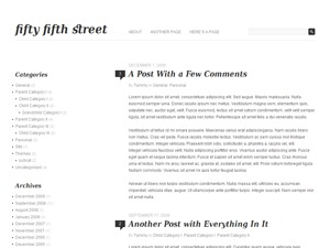 Fifty Fifth Street WordPress page template