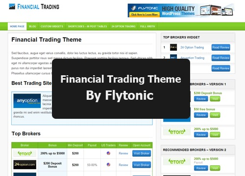 Financial Trading Theme best WordPress template