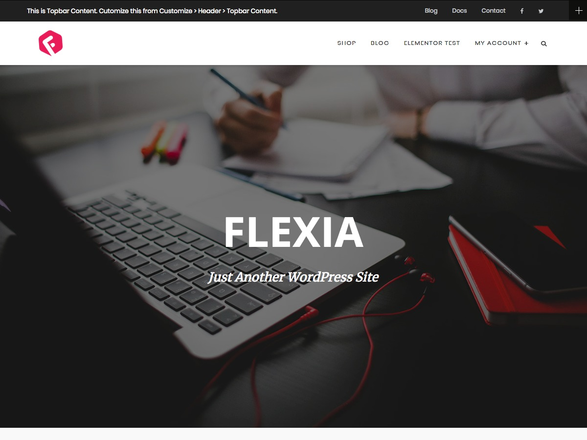 Flexia theme WordPress free