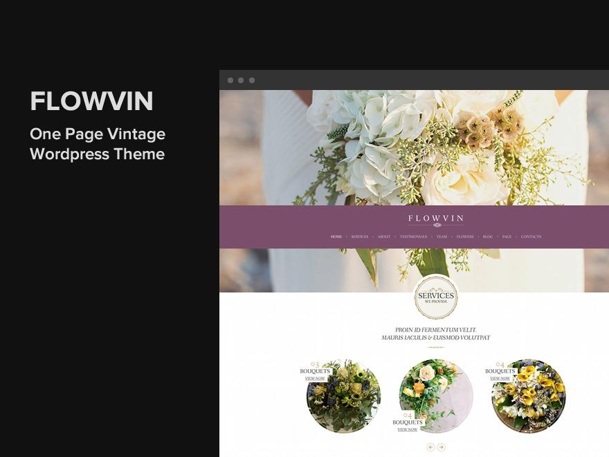 Flowvin best portfolio WordPress theme