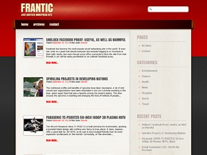 Frantic WordPress blog template