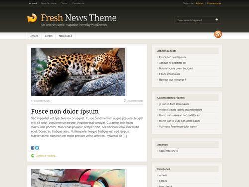 Fresh News WordPress news template