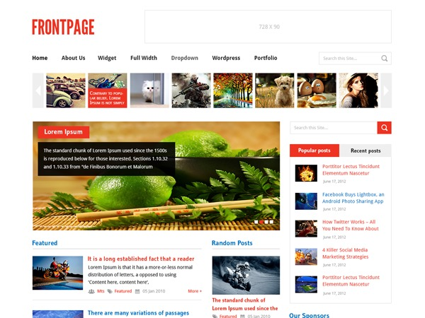 FrontPage by MyThemeShop WordPress shop theme