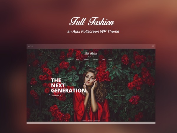 Full Fashion photography WordPress theme