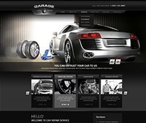 Garage personal blog WordPress theme