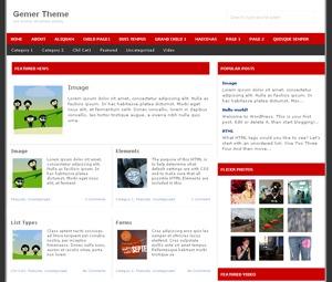 Gemer best WordPress theme